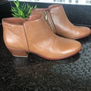 SAM EDELMAN petty leather ankle booties